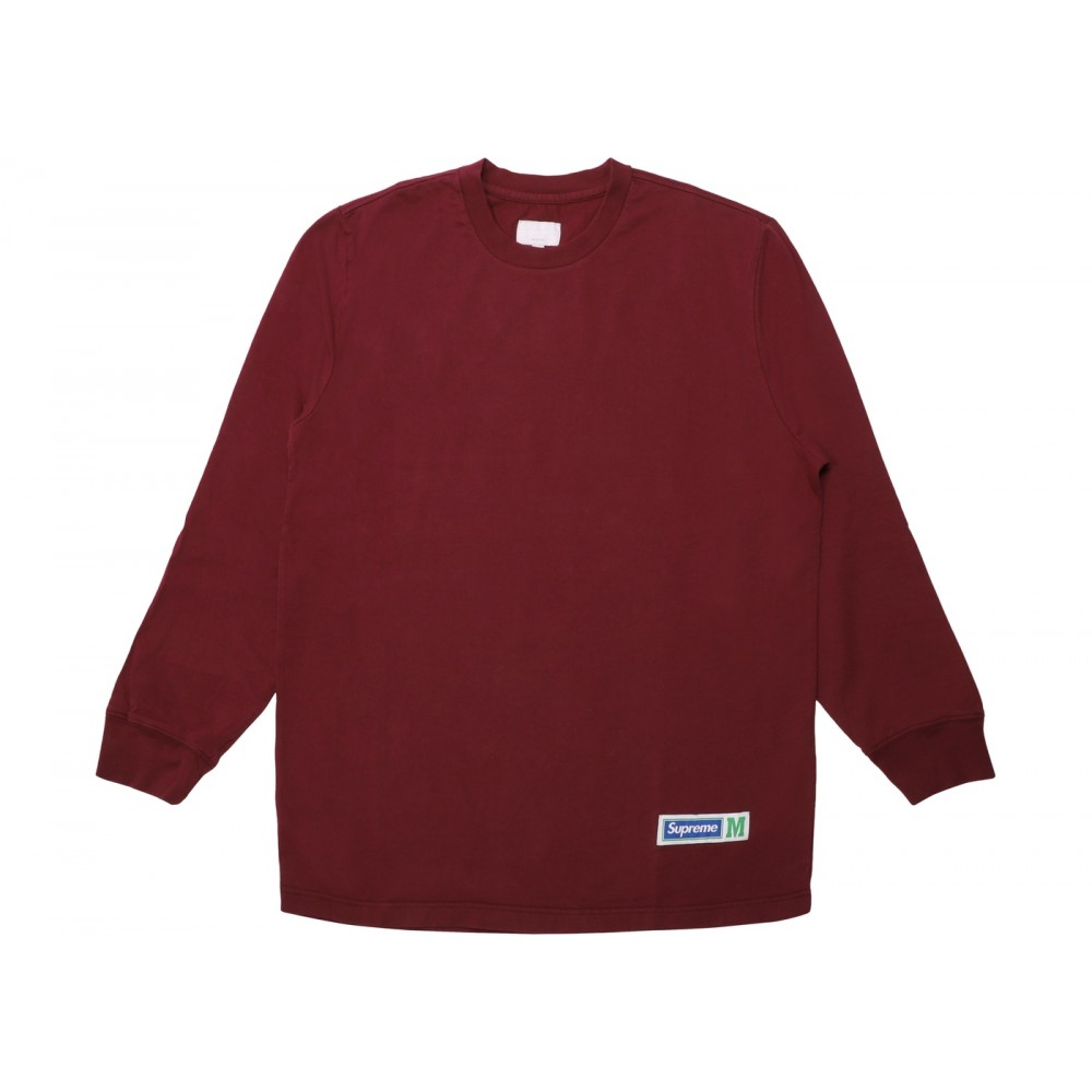 FW18 Supreme Athletic Label L/S Top Burgundy