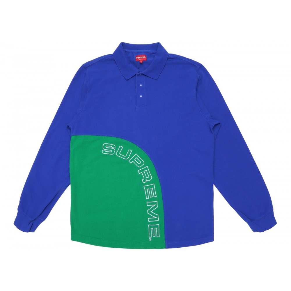 FW18 Supreme Corner Arc L/S Polo Royal