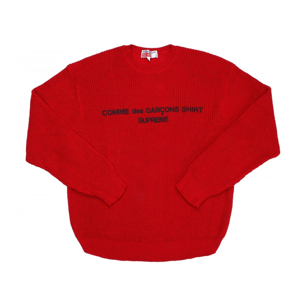 FW18 Supreme Comme des Garcons SHIRT Sweater Red