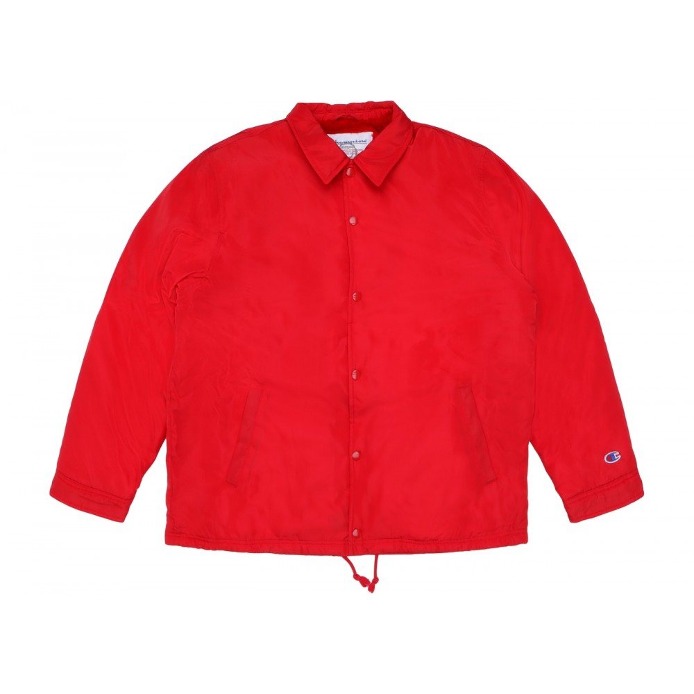 FW18 Supreme Champion Label Coaches Jacket Red