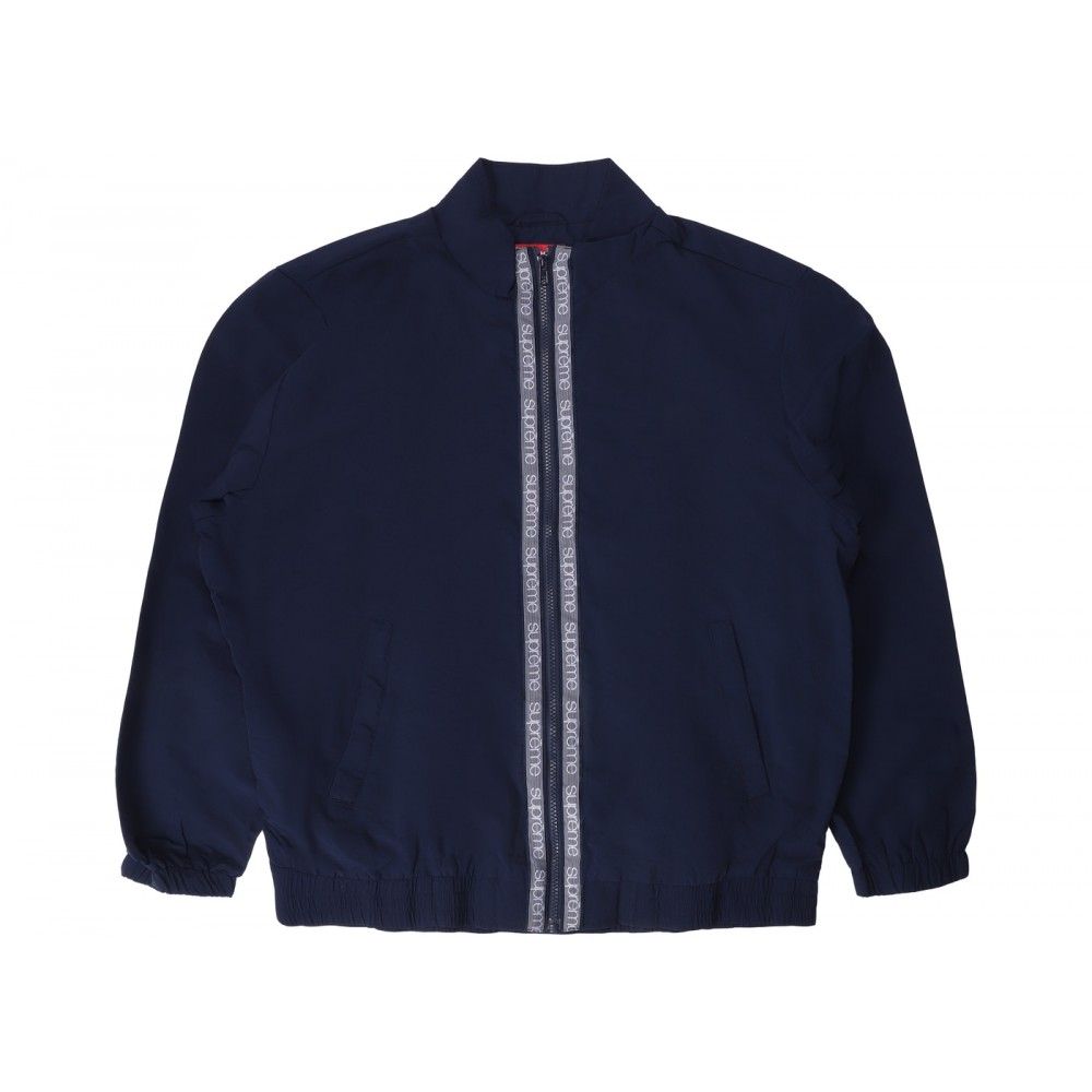 FW18 Supreme Classic Logo Taping Track Jacket Navy