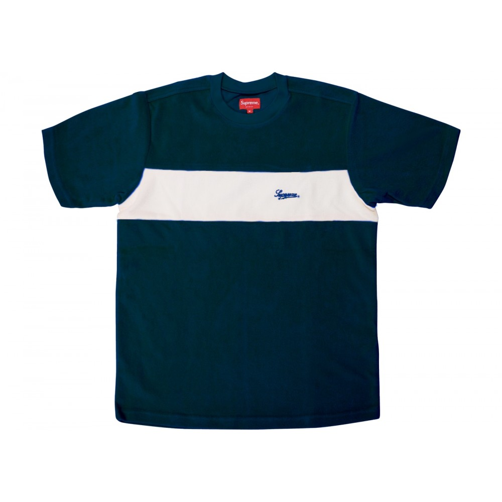FW18 Supreme Chest Stripe Terry Top Dark Teal