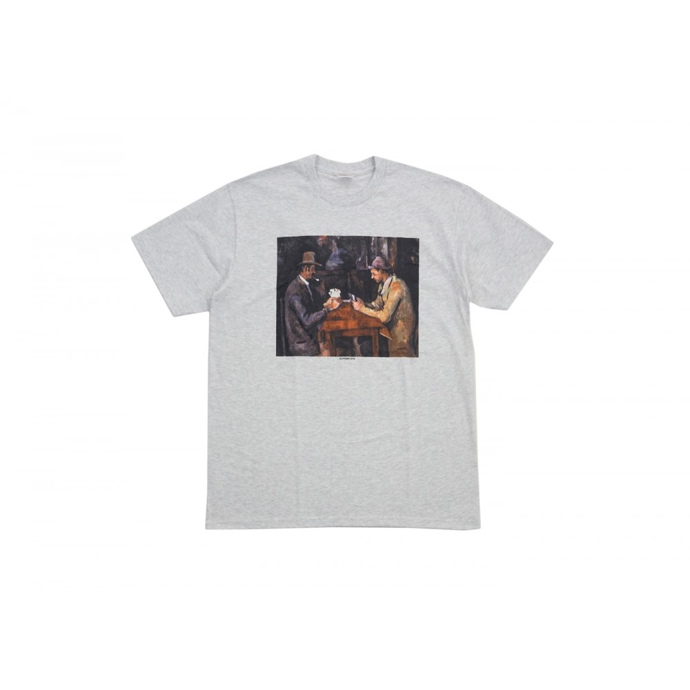 FW18 Supreme Cards Tee Ash Grey