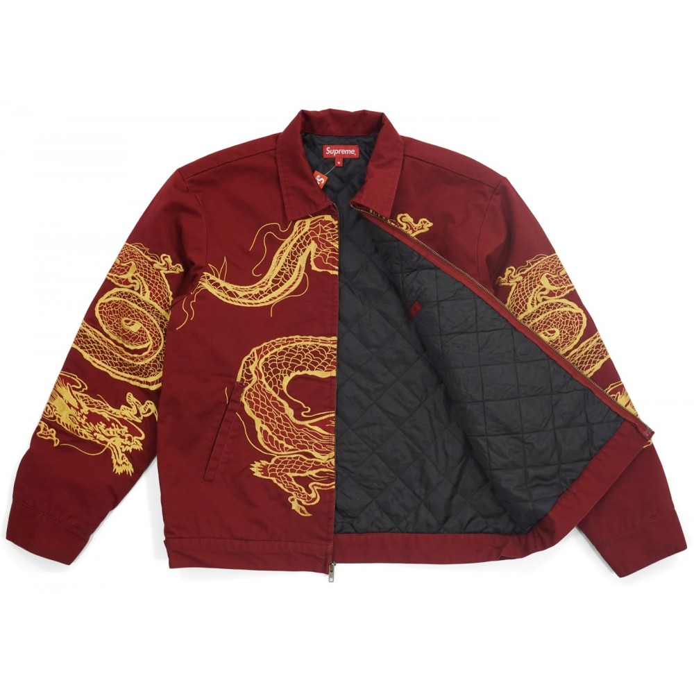 FW18 Supreme Dragon Work Jacket Red