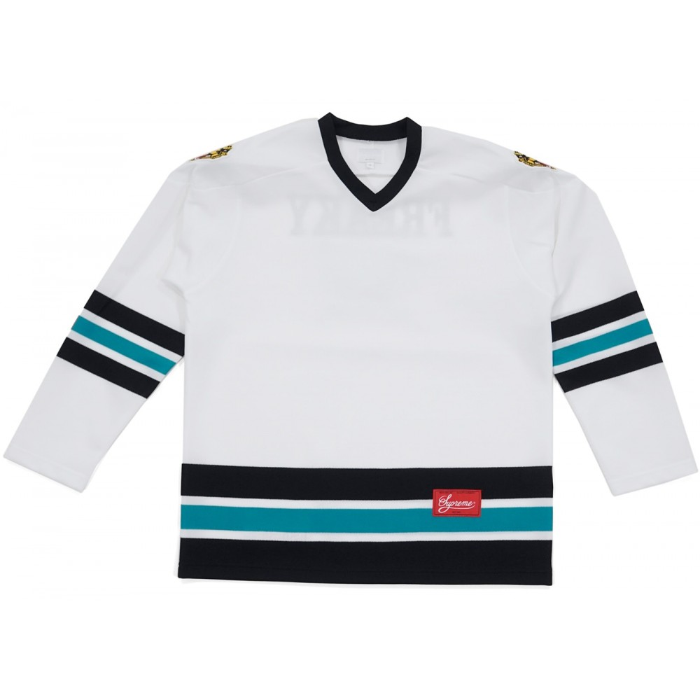 FW18 Supreme Freaky Hockey Jersey White