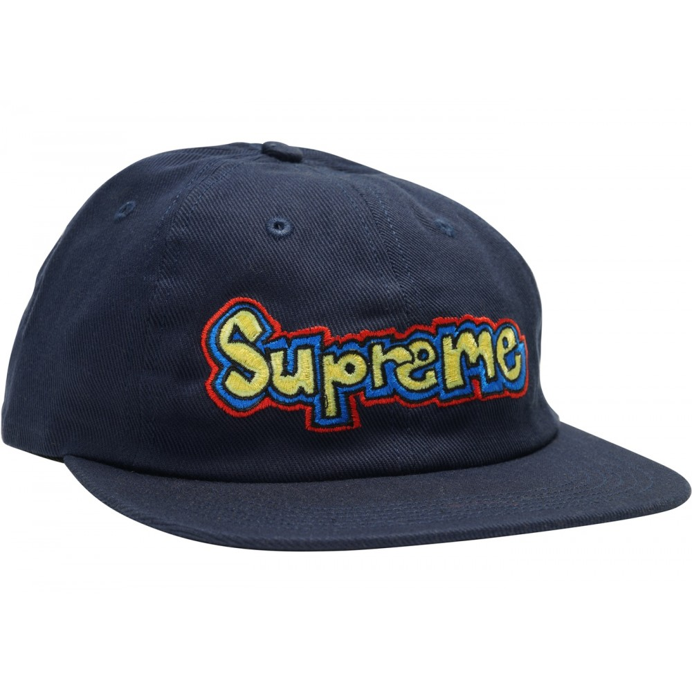 d942c9be FW18 Supreme Gonz Logo 6-Panel Navy