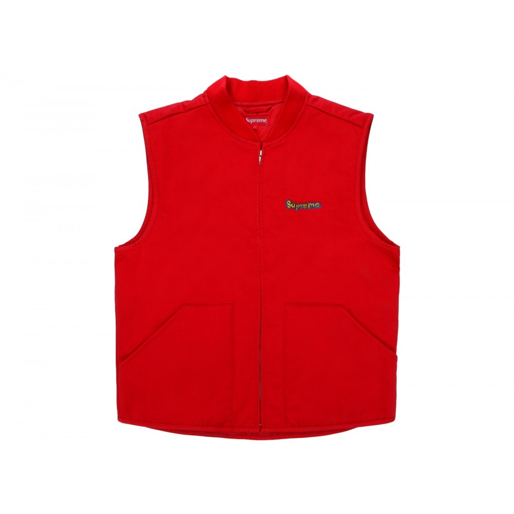 FW18 Supreme Gonz Shop Vest Red