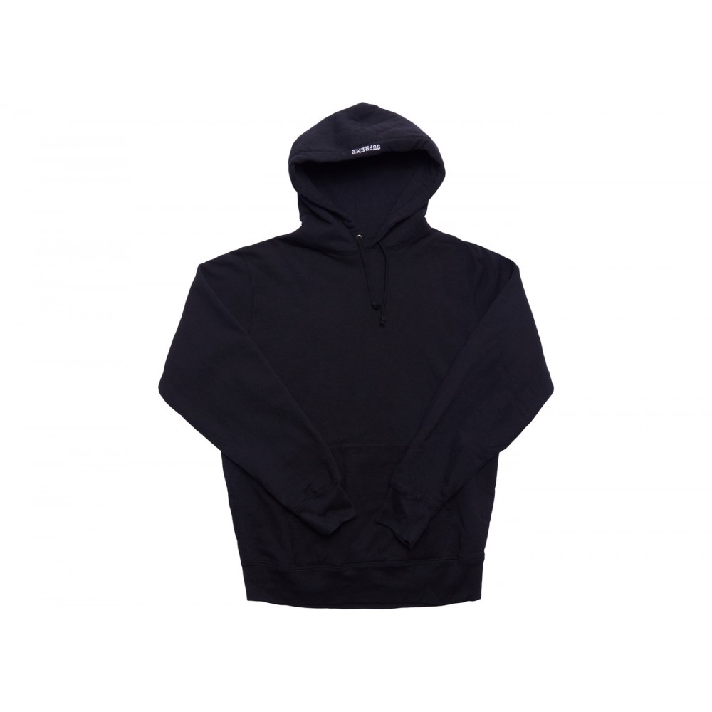 FW18 Supreme Illegal Business Hooded Sweatshirt Black
