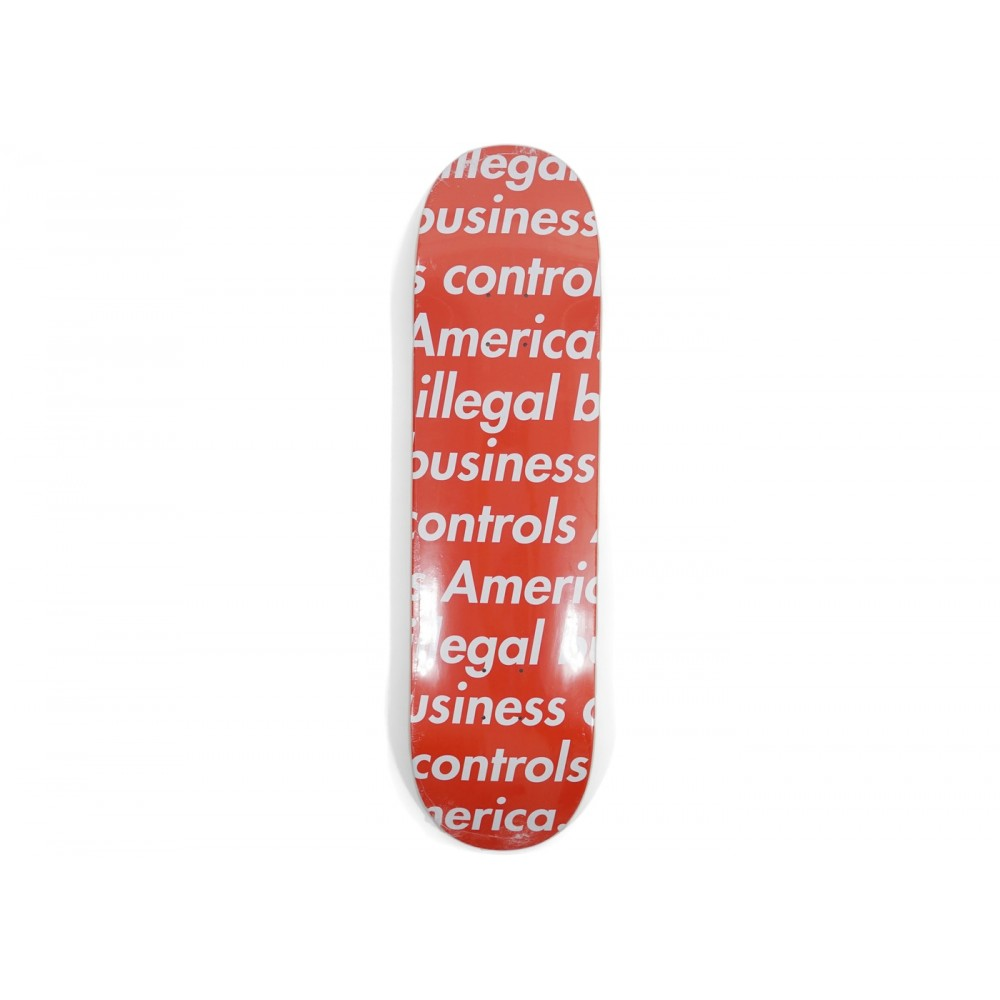 FW18 Supreme Illegal Business Skateboard Deck Red