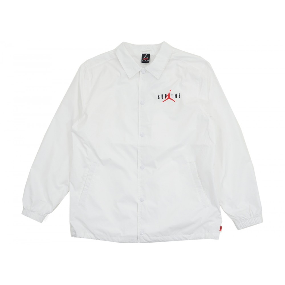 FW18 Supreme Jordan Coaches Jacket White