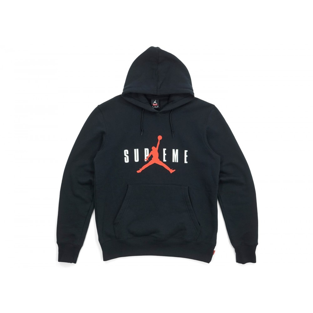 FW18 Supreme Jordan Hooded Pullover Black