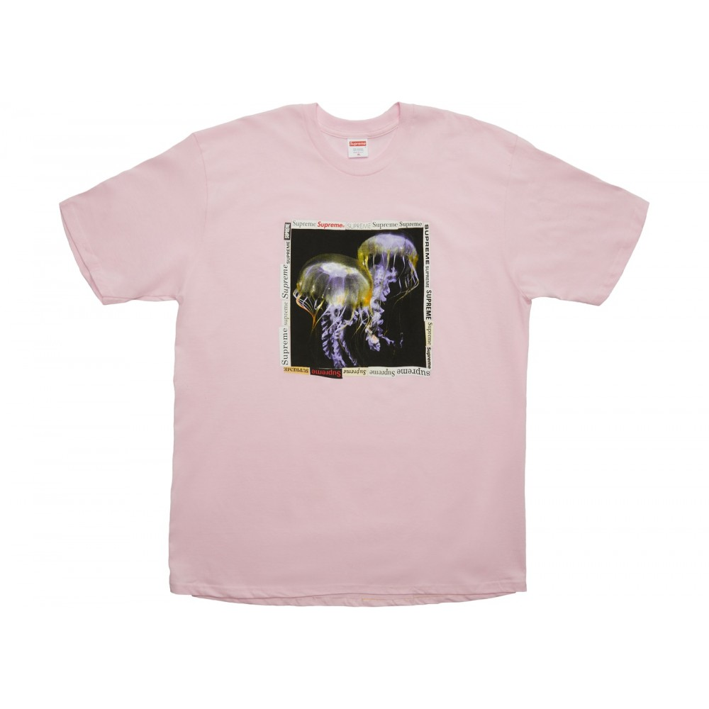 FW18 Supreme Jellyfish Tee Light Pink