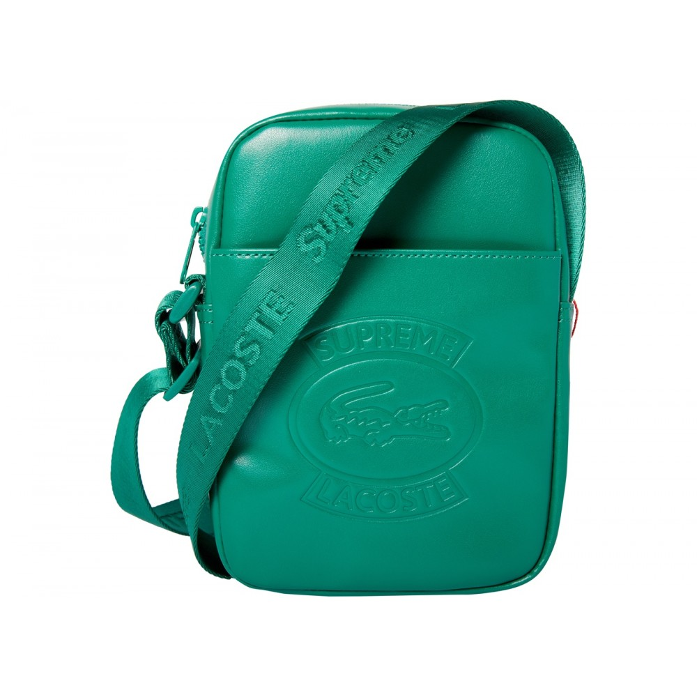 FW18 Supreme LACOSTE Shoulder Bag Green
