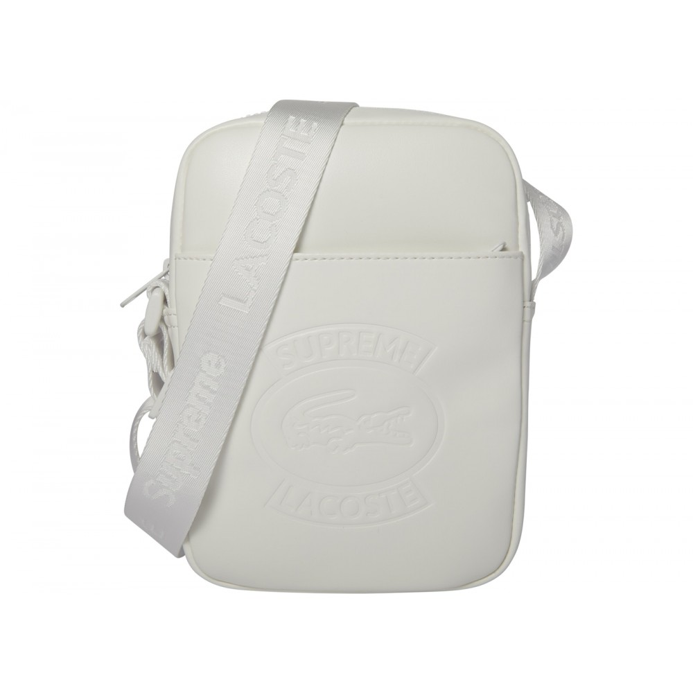 FW18 Supreme LACOSTE Shoulder Bag White