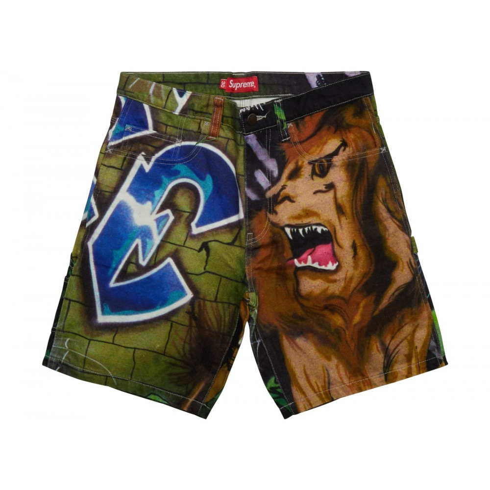 FW18 Supreme Lion's Den Painter Short Multi
