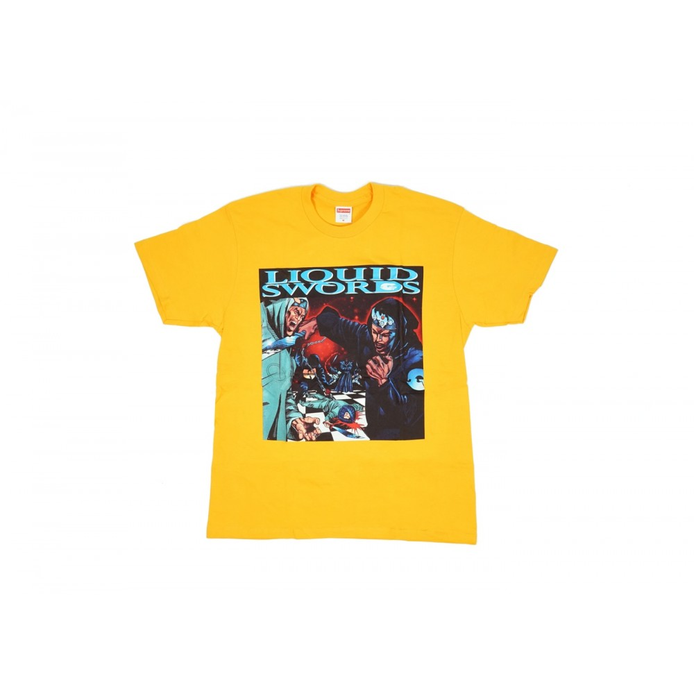 FW18 Supreme Liquid Swords Tee Bright Orange