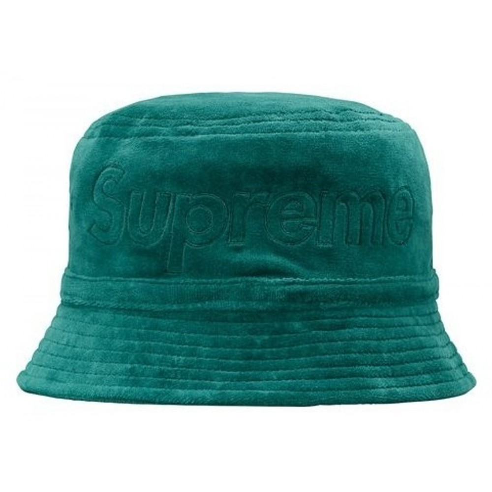 FW18 Supreme LACOSTE Velour Crusher Teal