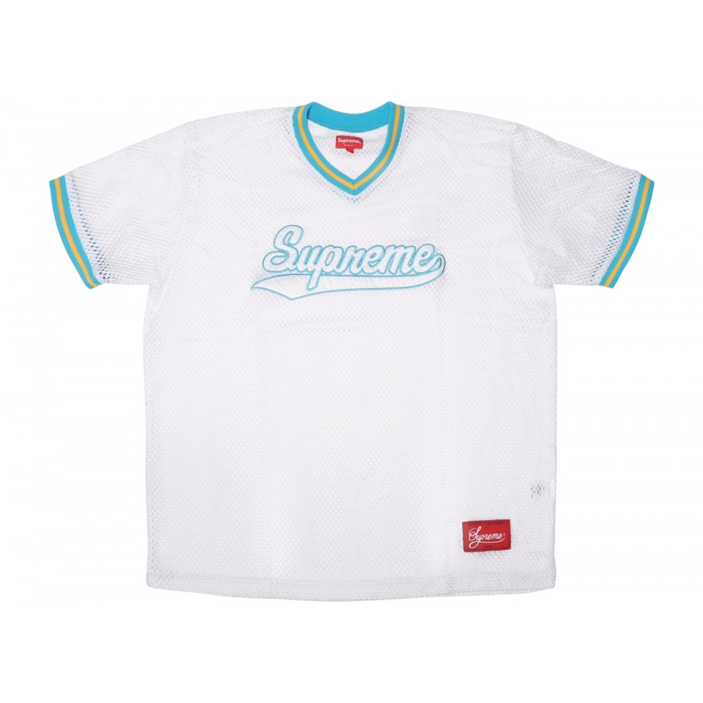 FW18 Supreme Mesh Baseball Top White