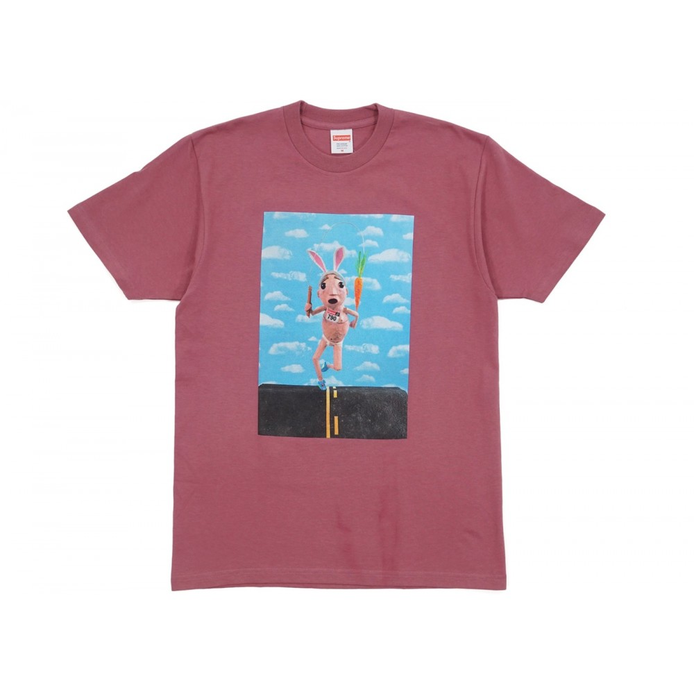 FW18 Supreme Mike Hill Runner Tee Dark Rose