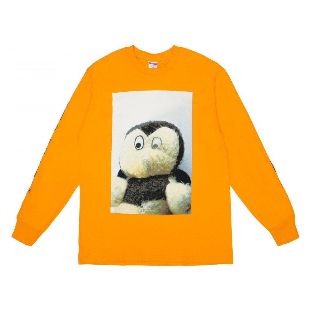 FW18 Supreme Mike Kelley AhhYouth! L/S Tee Bright Orange