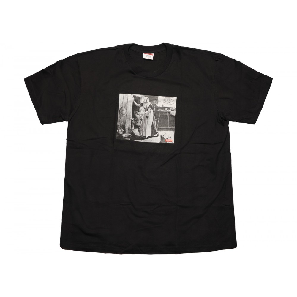 FW18 Supreme Mike Kelley Hiding From Indians Tee Black