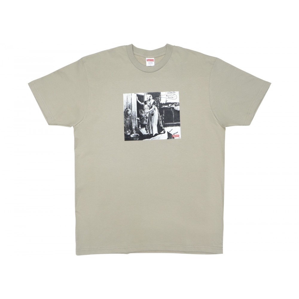 FW18 Supreme Mike Kelley Hiding From Indians Tee Clay