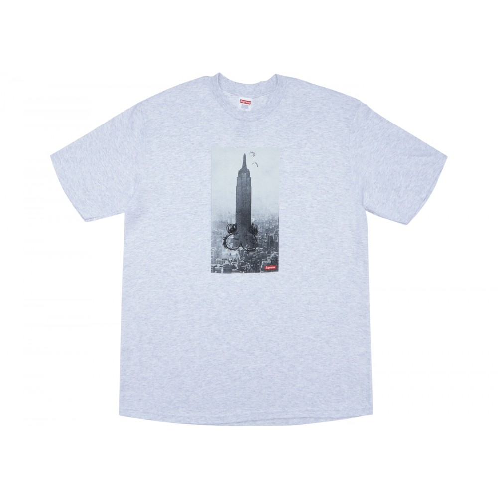 FW18 Supreme Mike Kelley The Empire State Building Tee Ash Grey