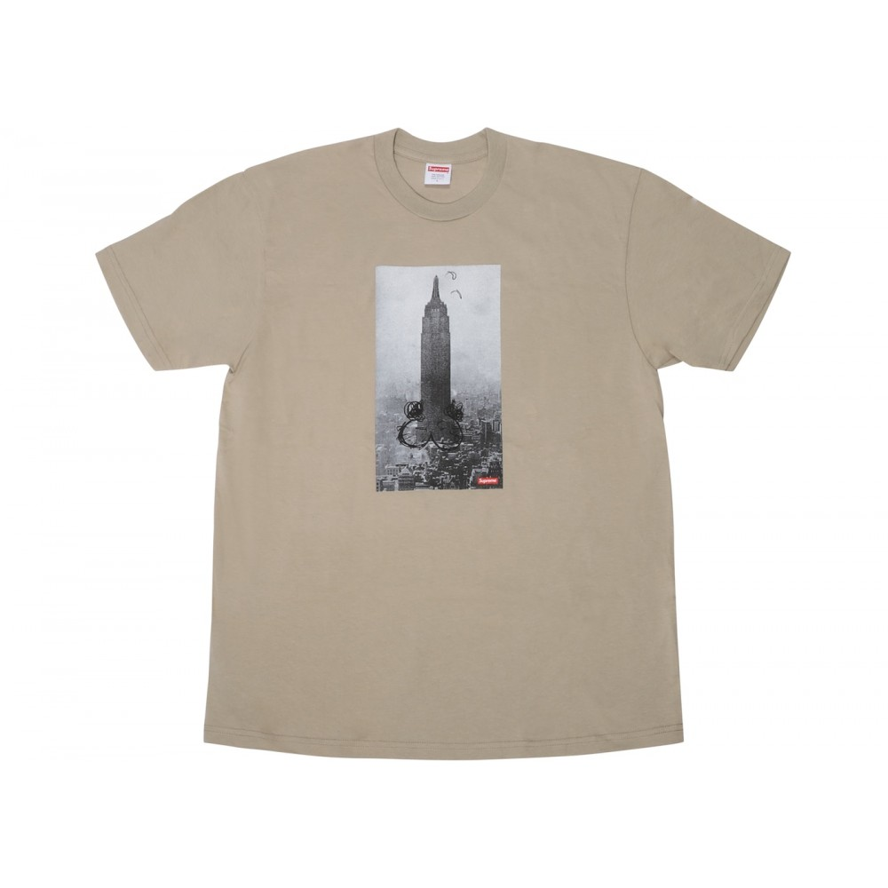 FW18 Supreme Mike Kelley The Empire State Building Tee Clay