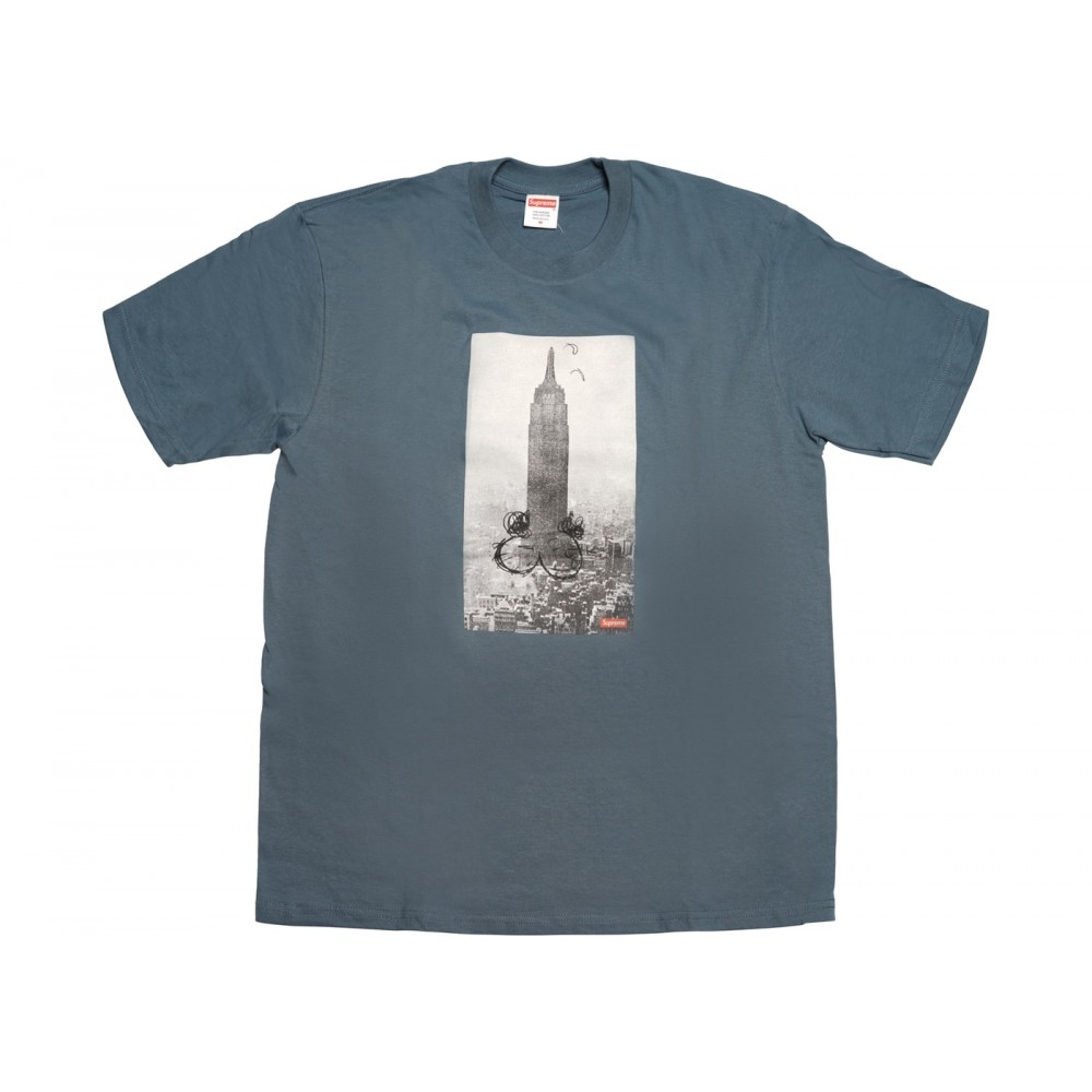 FW18 Supreme Mike Kelley The Empire State Building Tee Slate