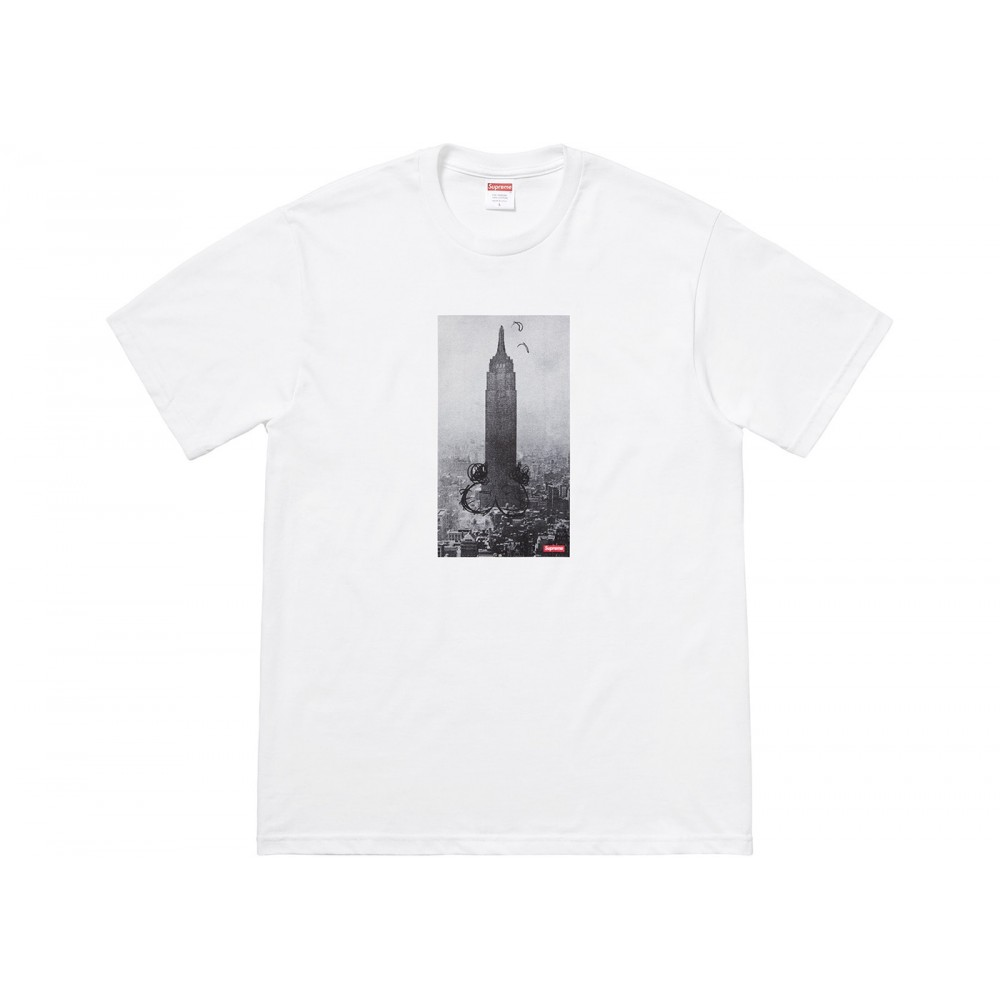 FW18 Supreme Mike Kelley The Empire State Building Tee White
