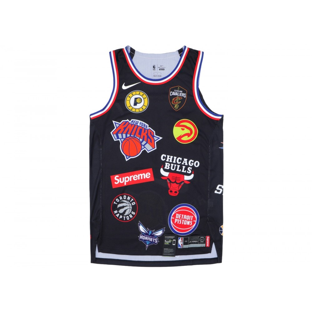 FW18 Supreme Nike/NBA Teams Authentic Jersey Black