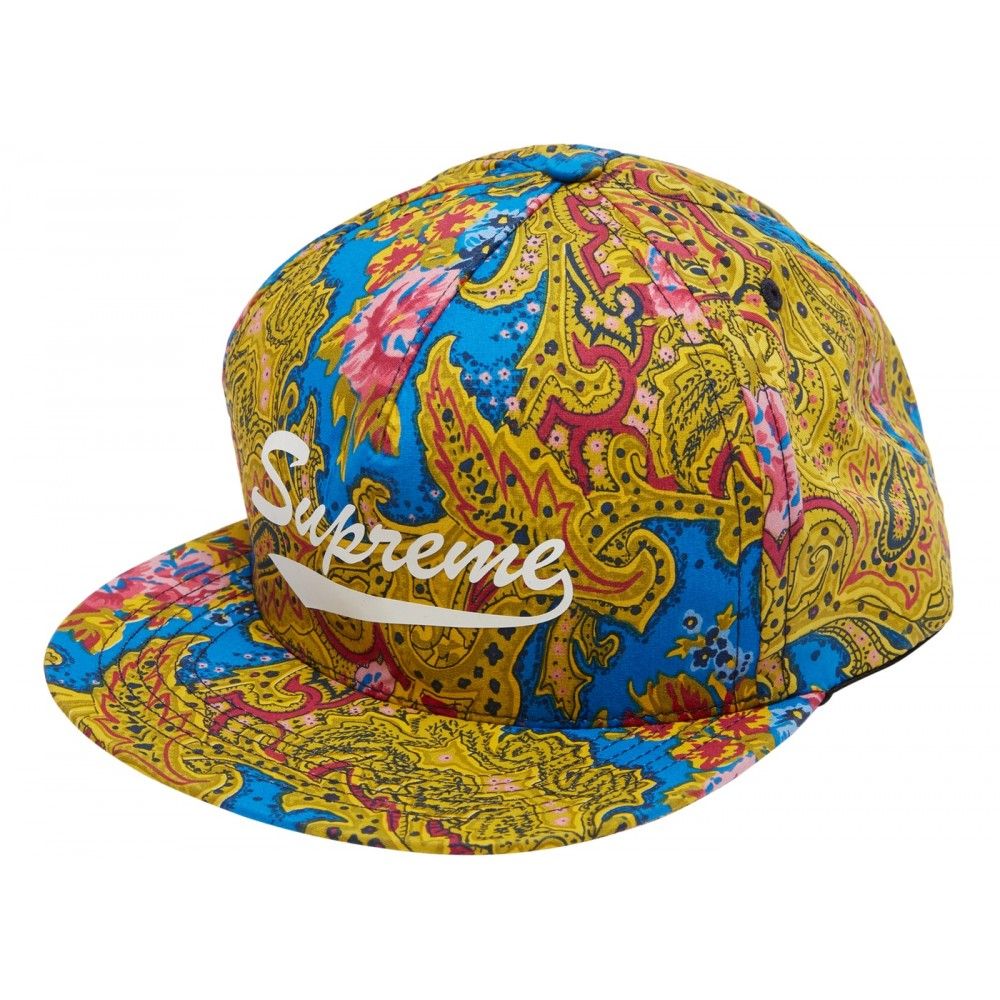 FW18 Supreme Paisley 5-Panel Blue