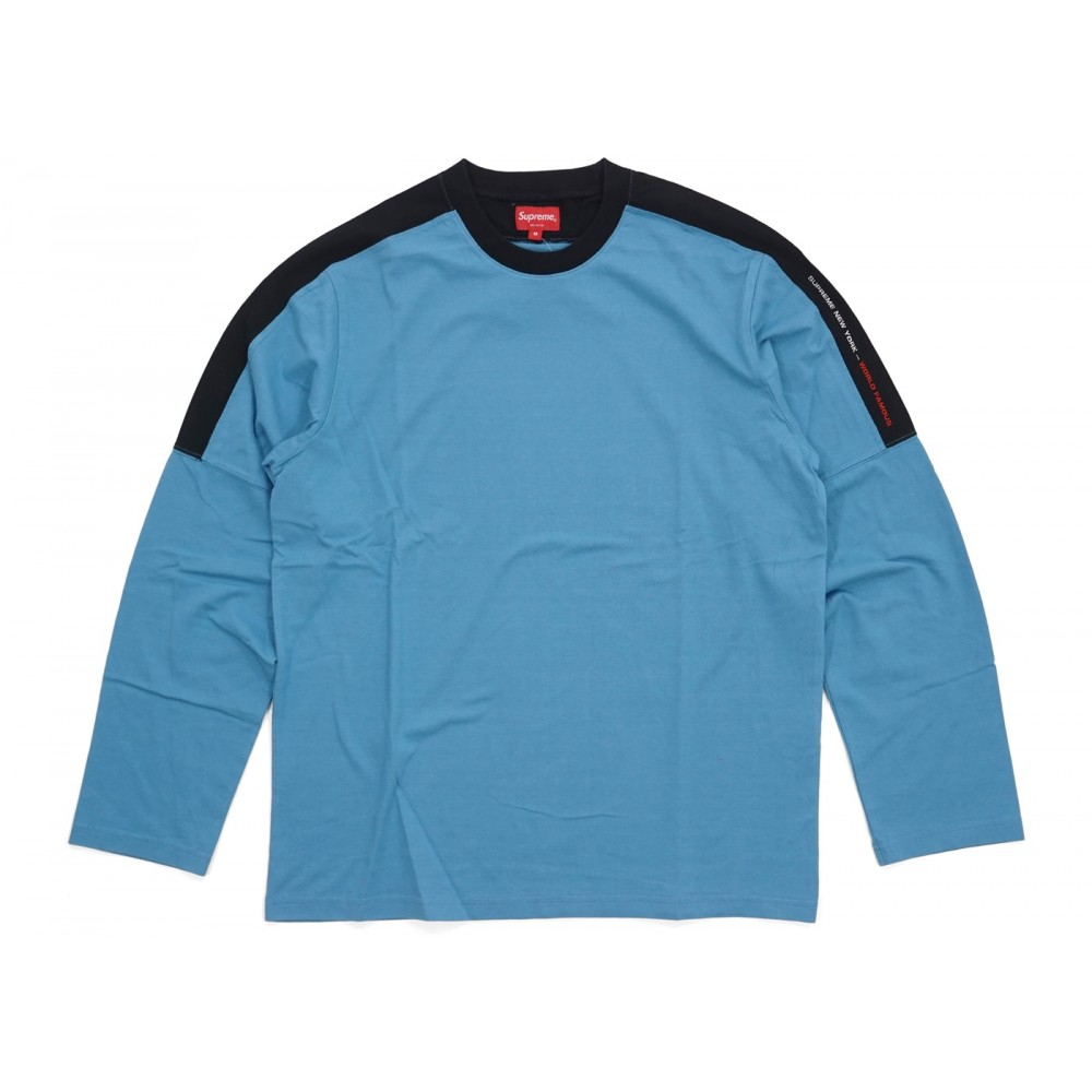 FW18 Supreme Paneled L/S Top Slate