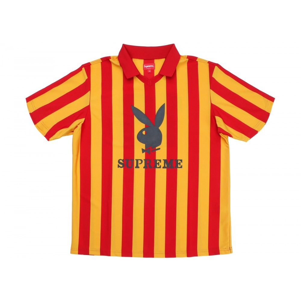 FW18 Supreme Playboy Soccer Jersey Red