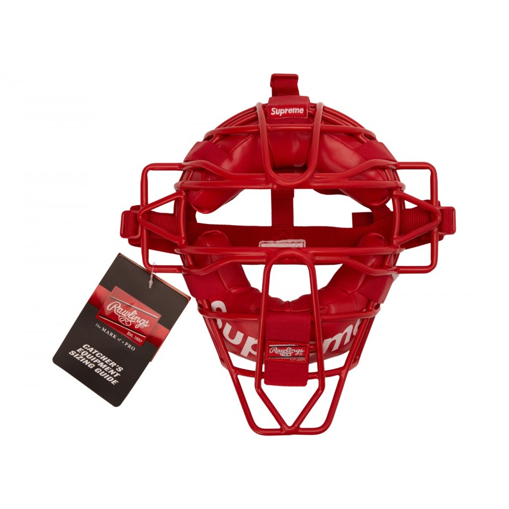 FW18 Supreme Rawlings Catcher's Mask Red