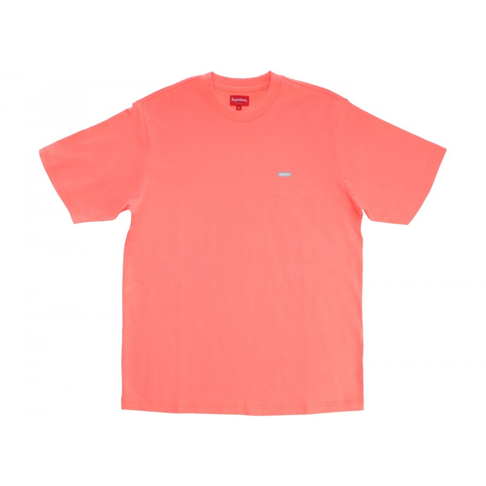 FW18 Supreme Reflective Small Box Tee Fluorescent Pink