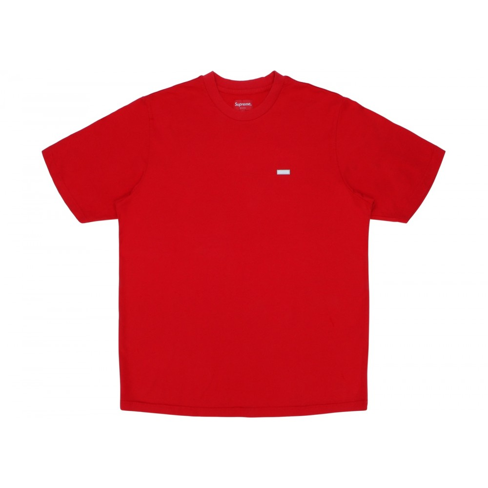 FW18 Supreme Reflective Small Box Tee Red
