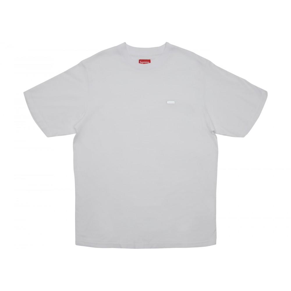 FW18 Supreme Reflective Small Box Tee White