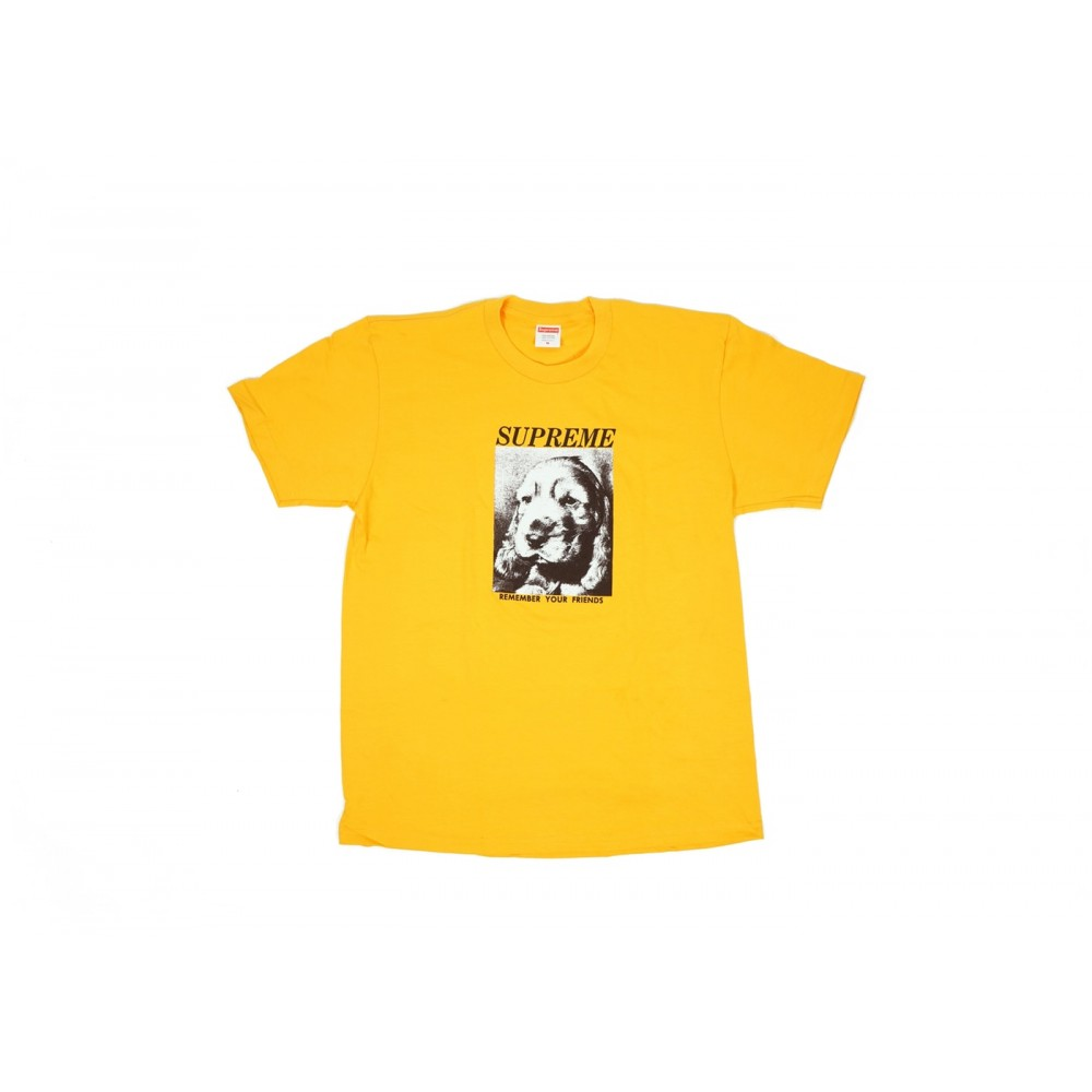 FW18 Supreme Remember Tee Bright Orange