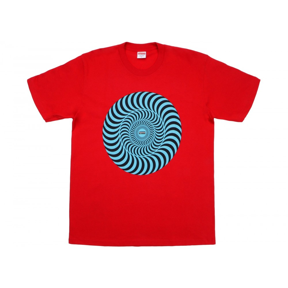 FW18 Supreme Spitfire Classic Swirl T-Shirt Red
