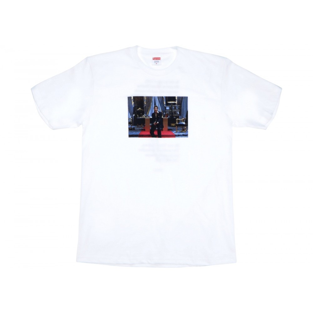 FW18 Supreme Scarface Friend Tee White