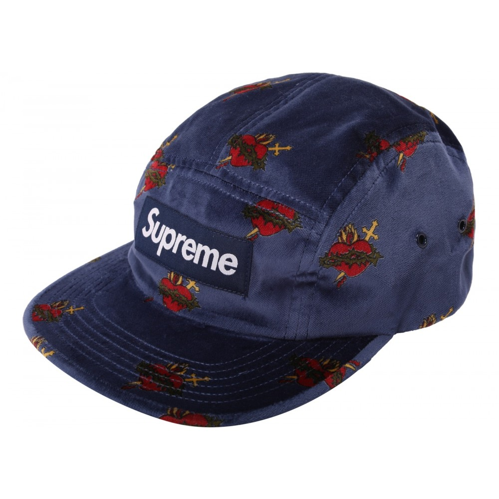 FW18 Supreme Sacred Hearts Camp Cap Navy