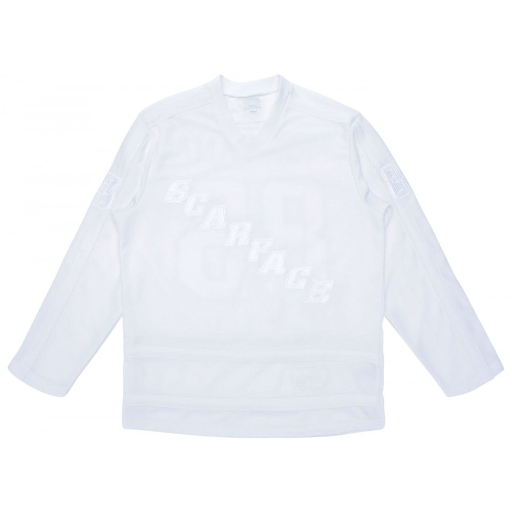 FW18 Supreme Scarface Hockey Jersey White
