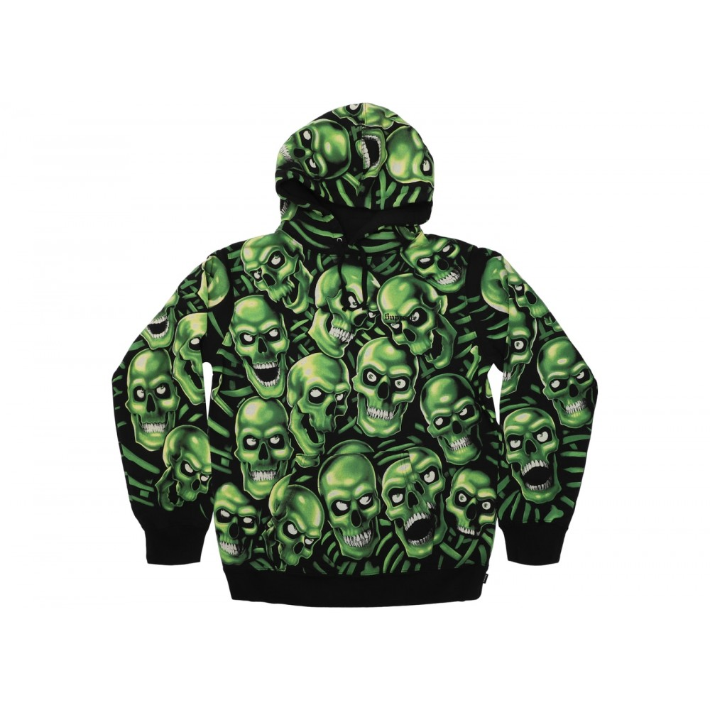 FW18 Supreme Skull Pile Hooded Sweatshirt Green