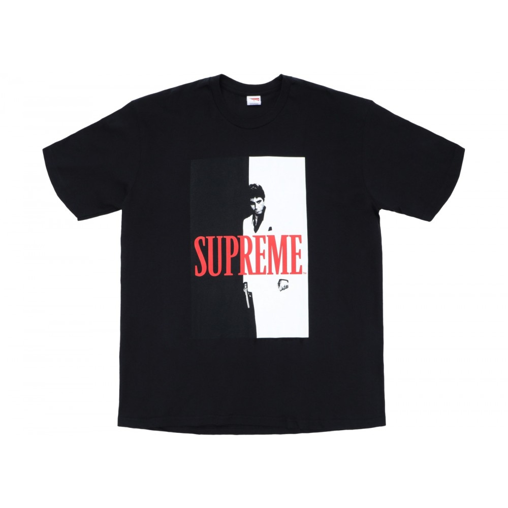 FW18 Supreme Scarface Split Tee Black
