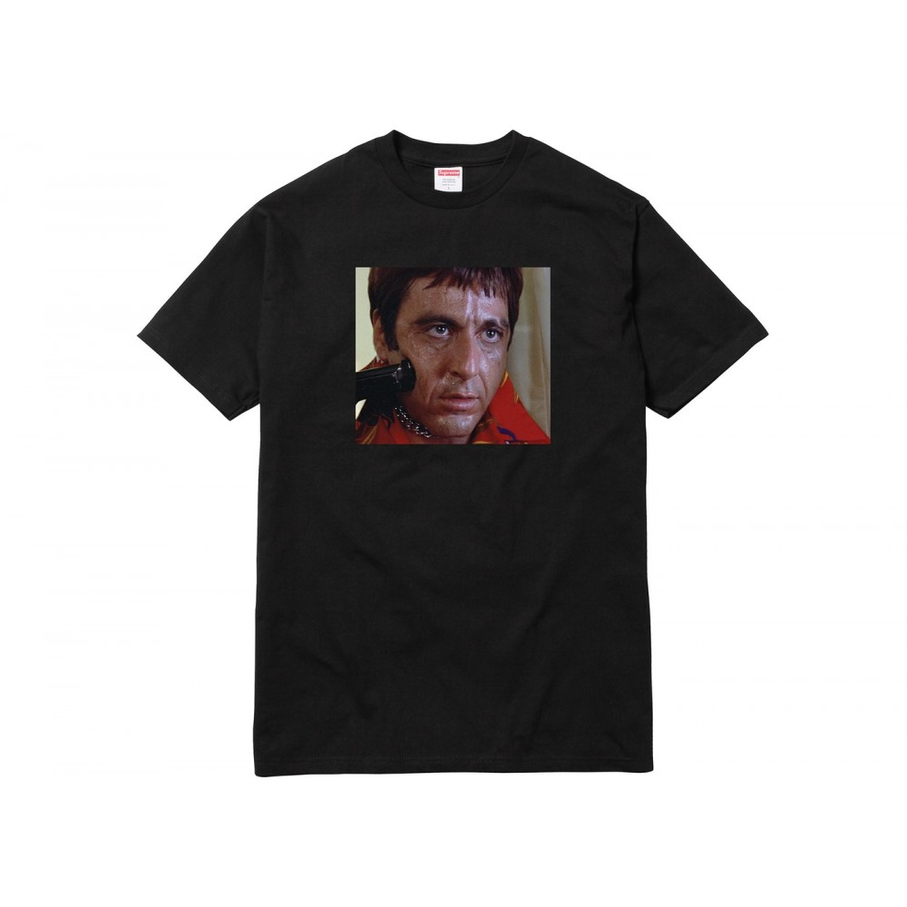 FW18 Supreme Scarface Shower Tee Black