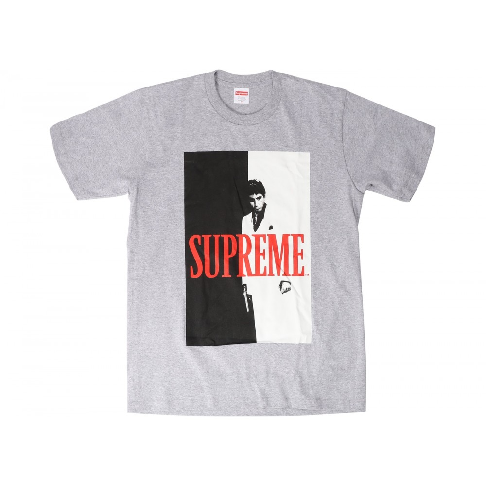 FW18 Supreme Scarface Split Tee Heather Grey