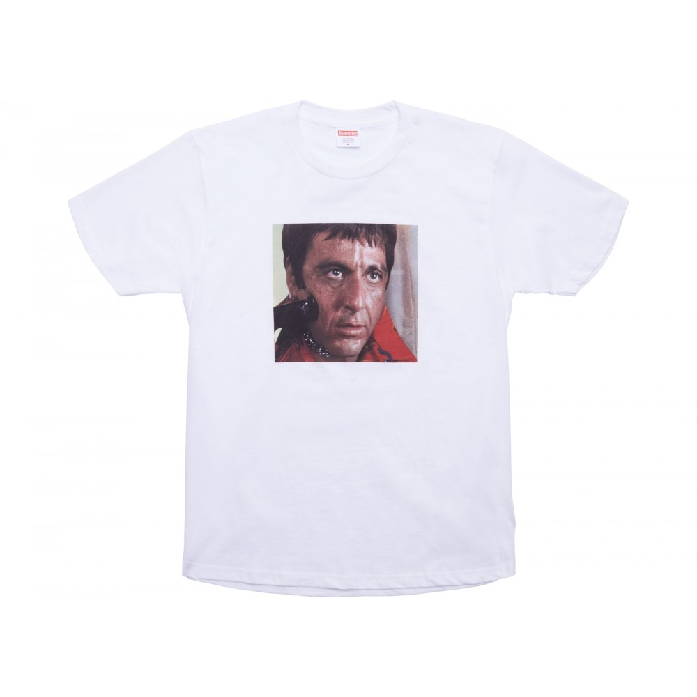 FW18 Supreme Scarface Shower Tee White