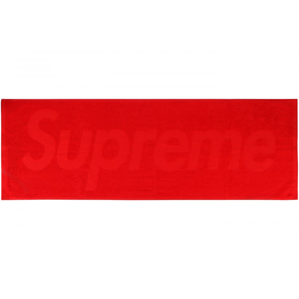 FW18 Supreme Terry Logo Hand Towel Red