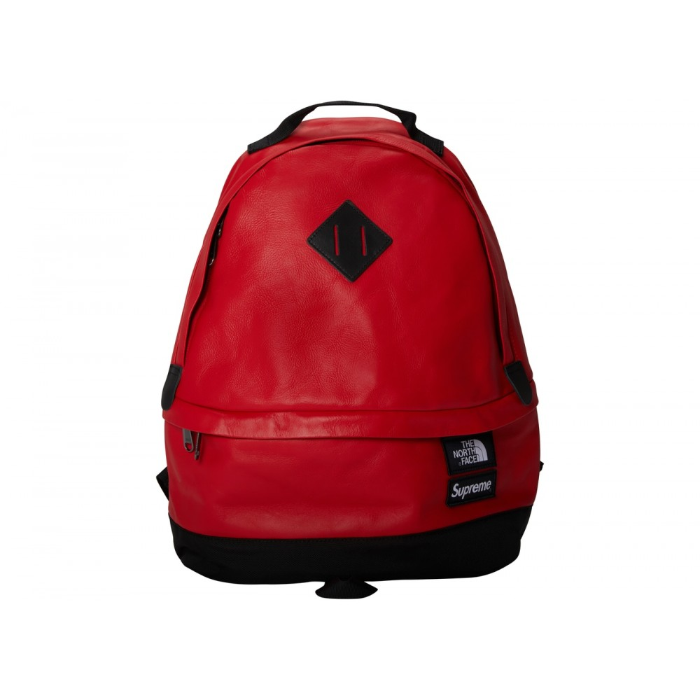 FW18 Supreme The North Face Leather Day Pack Red